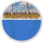 Wind Power Round Beach Towel