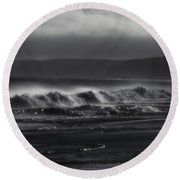 Wind Sand And Fog Round Beach Towel