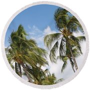 Wind Though The Trees Round Beach Towel