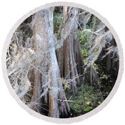 Wind Through The Cypress Trees Round Beach Towel