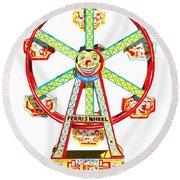 Wind-up Ferris Wheel Round Beach Towel