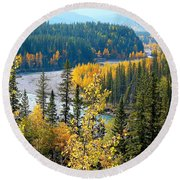 Winding Creek Round Beach Towel
