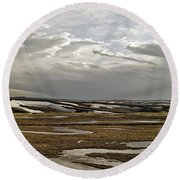 Winding Rivers Round Beach Towel