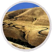 Winding Road Round Beach Towel
