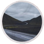 Winding Roads Round Beach Towel