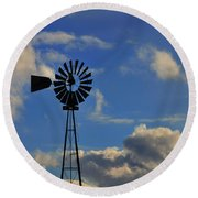 Windmill Round Beach Towel