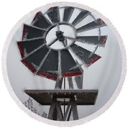 Windmill Frost Round Beach Towel