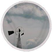Windmill Less Blades Round Beach Towel
