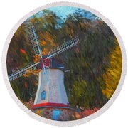 Windmill Series 1102 Round Beach Towel