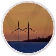 Windmills Sync Round Beach Towel