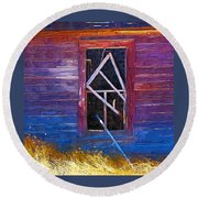 Window-1 Round Beach Towel