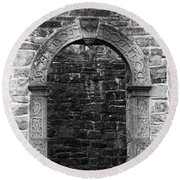 Window At Donegal Castle Ireland Round Beach Towel