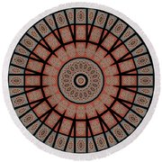 Window Mosaic - Mandala - Transparent Round Beach Towel