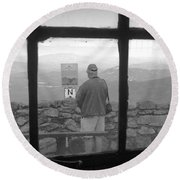 Window On White Mountain Round Beach Towel