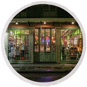 Window Shopping, French Quarter, New Orleans Round Beach Towel