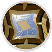 Window To Another Dimension Round Beach Towel