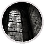 Window To Mont St Michel Round Beach Towel by Dave Bowman