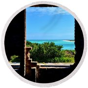 Window To Paradise Round Beach Towel