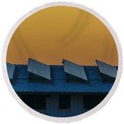 window to Solar power Round Beach Towel