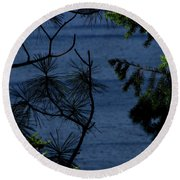 Window To The River Round Beach Towel