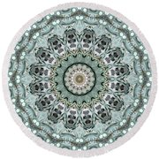 Window To The World Mandala Round Beach Towel