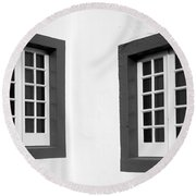 Windows Round Beach Towel