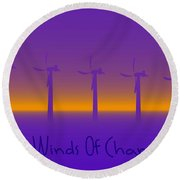 Winds Of Change Round Beach Towel