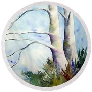 Winds Of Provence Round Beach Towel