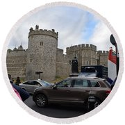 Windsor Castle #1 Round Beach Towel