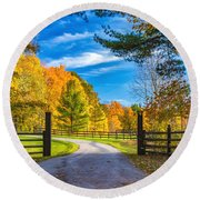 Windstone Farm Round Beach Towel