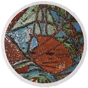 Windstorm Tile Round Beach Towel