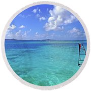 Windsurfing The Islands Round Beach Towel