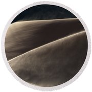 Windswept Dunes Round Beach Towel