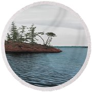 Windswept Island Georgian Bay Round Beach Towel