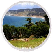 Windswept Over San Francisco Bay Round Beach Towel