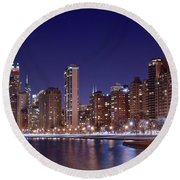 Windy City Lakefront Round Beach Towel