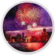 Windy City Round Beach Towel