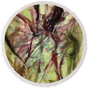 Windy Day Round Beach Towel by Ikahl Beckford