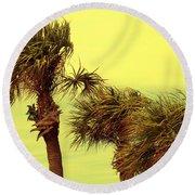 Windy Palms Round Beach Towel