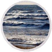 Windy Spring Lake Huron Round Beach Towel