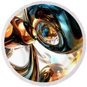 Wine And Spirits Abstract Round Beach Towel