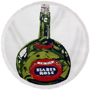 Wine Bottle Round Beach Towel