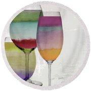 Wine Prism Round Beach Towel