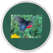 Wing Spread Butterfly Round Beach Towel
