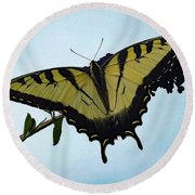 Wings Are Perfect Match - Eastern Tiger Swallowtail Round Beach Towel