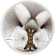 Wings In Motion Round Beach Towel