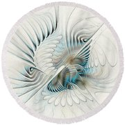 Wings Of An Angel Round Beach Towel