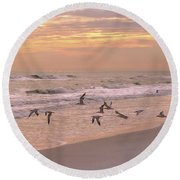 Wings Of Dawn Round Beach Towel