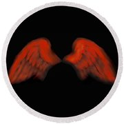 Wings Of Fire Round Beach Towel