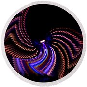 Wings Of Light Round Beach Towel